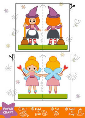 Education Paper Crafts for children, Witch and Fairy