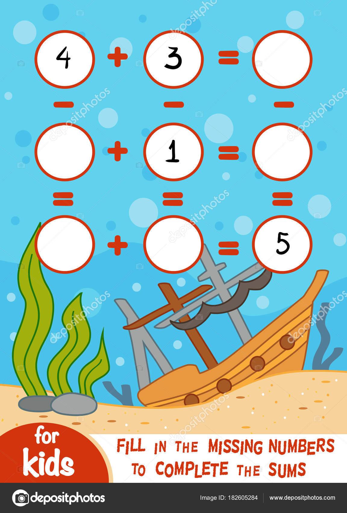 Spiel für Kinder im Vorschulalter zu zählen. Addition und ...