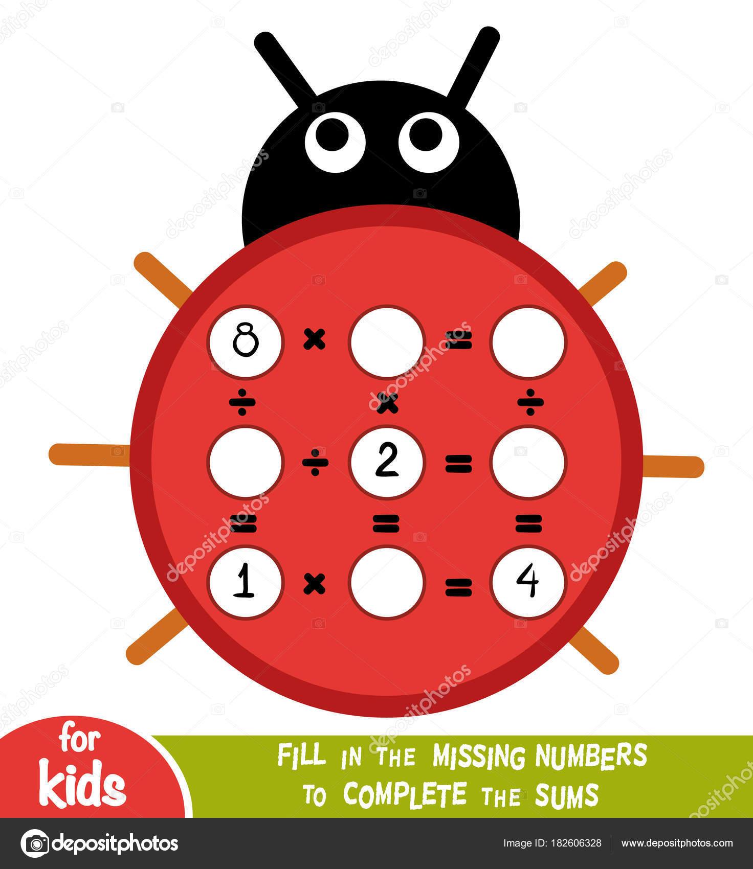 Cuenta de juego para los niños. Educativos un juego matemático ...