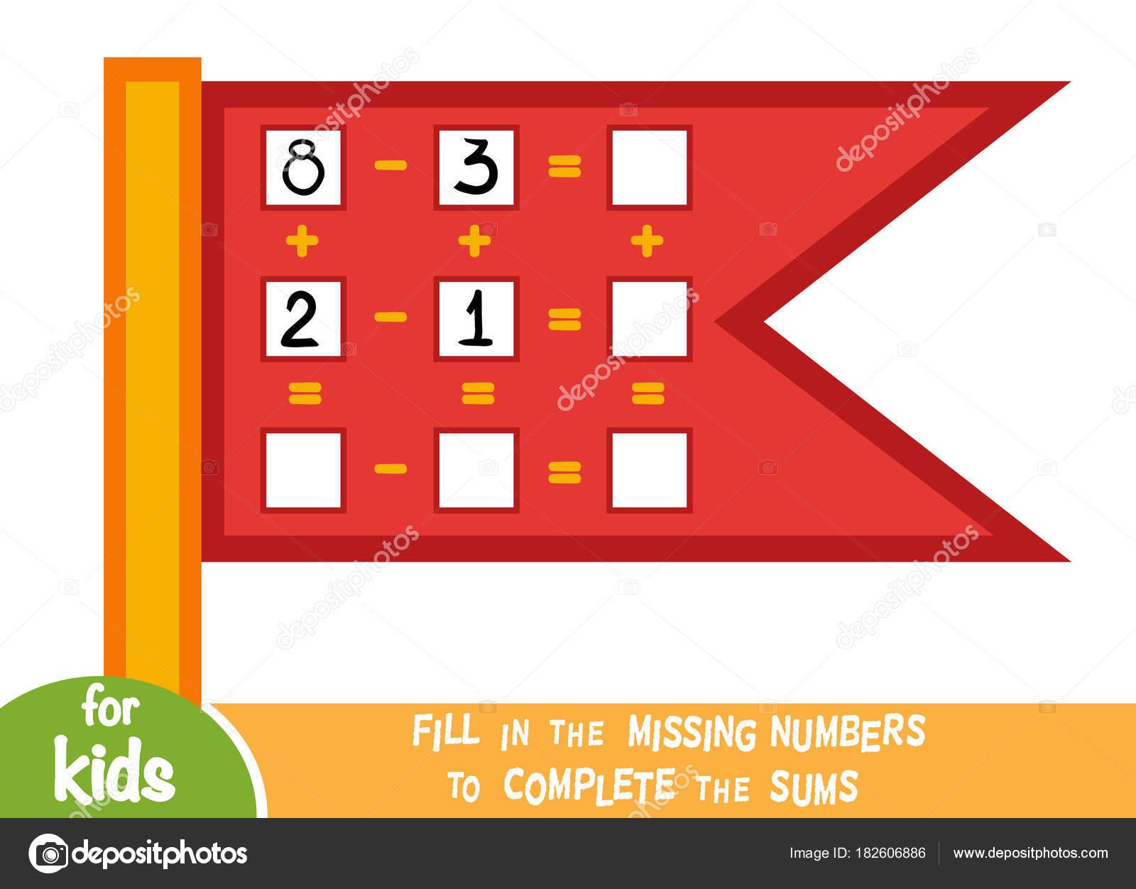 Zählen Spiel für Kinder. Educational ein mathematisches Spiel ...