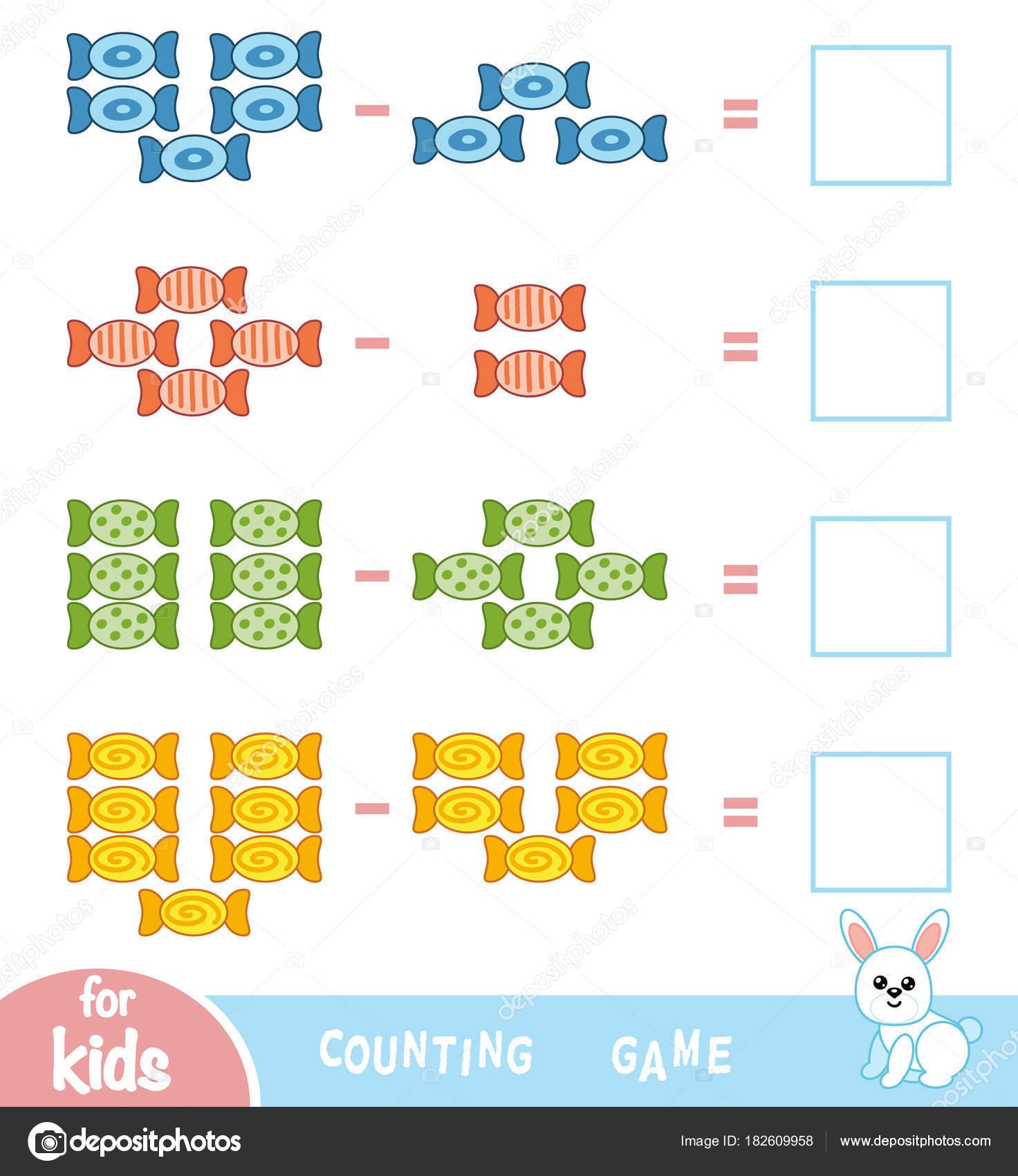 Cuenta de juego para niños en edad preescolar. Contar el número de ...