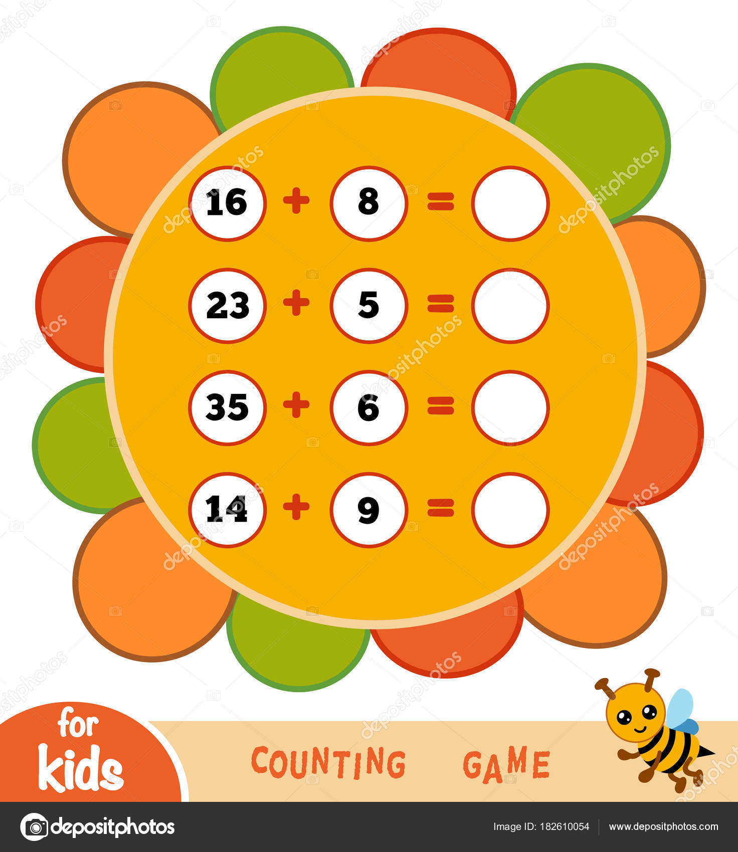 Zählen Spiel für Kinder. Zusatz-Arbeitsblätter auf dem Hintergrund ...