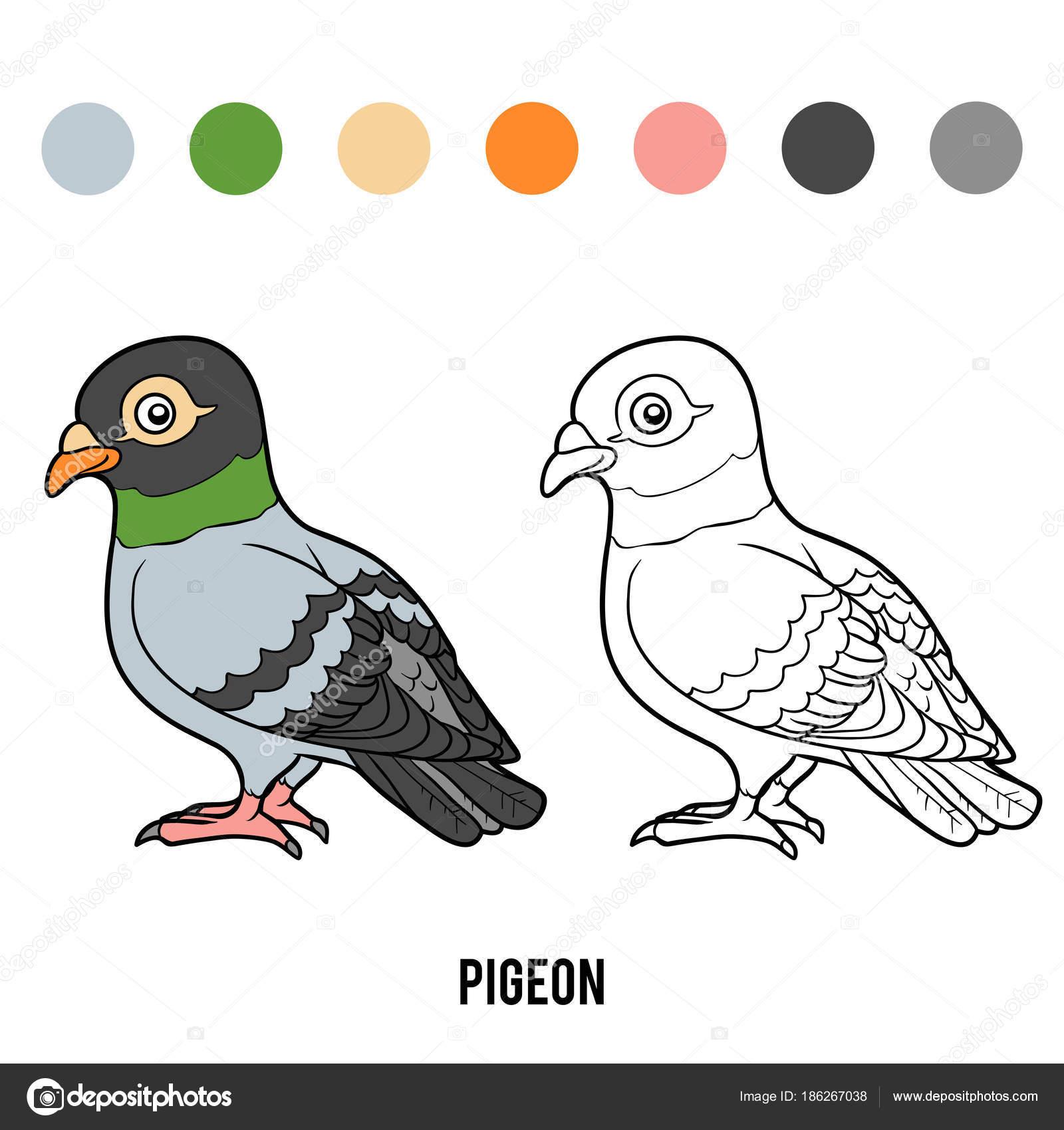 Libro de colorear, Paloma — Vector de stock © ksenya_savva #186267038