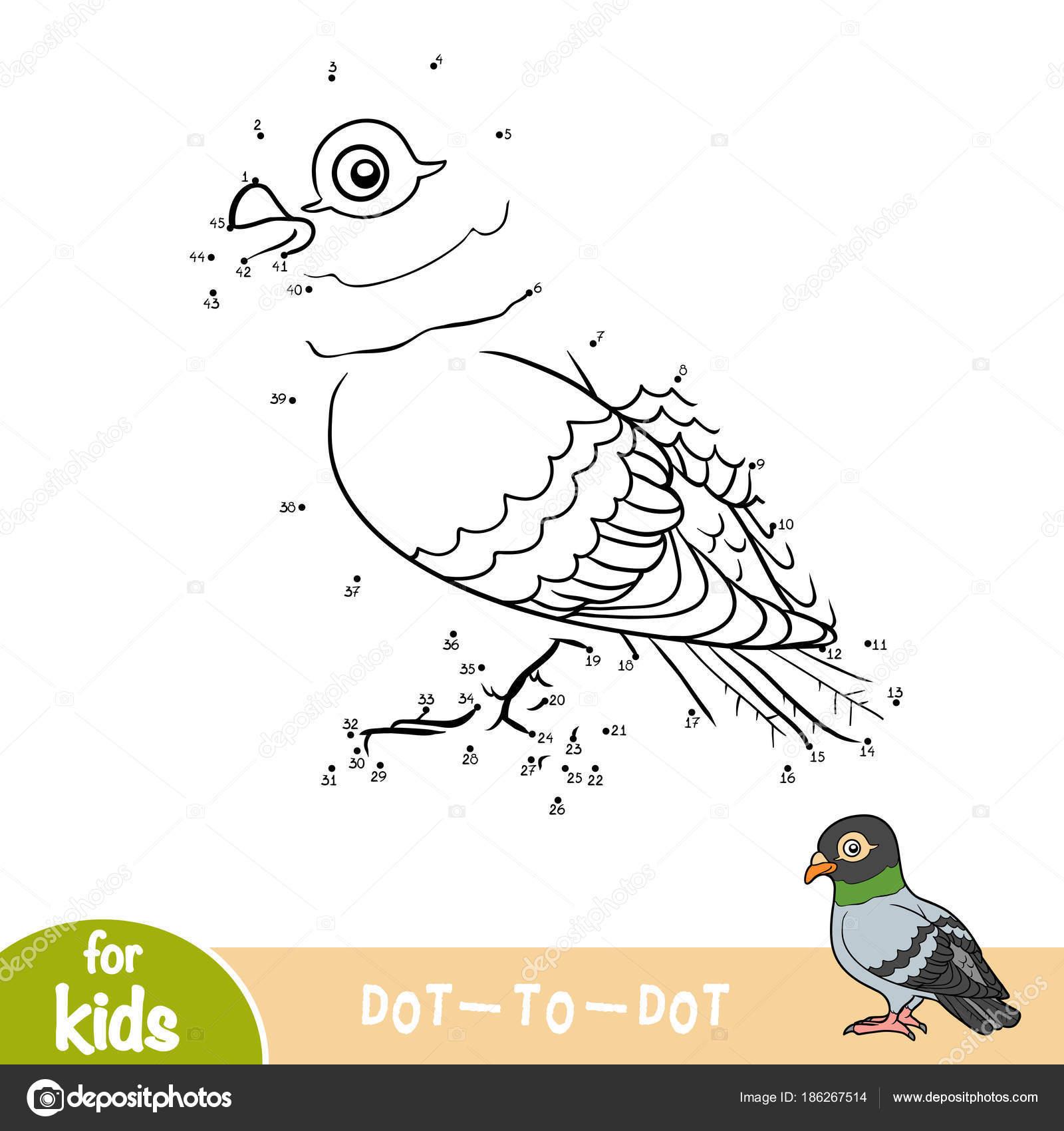 Sayı Oyunu Güvercin Stok Vektör Ksenyasavva 186267514