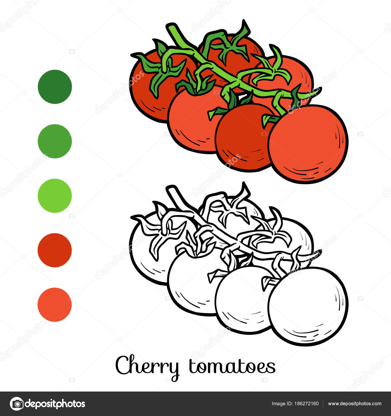 Élégant Image A Colorier tomate