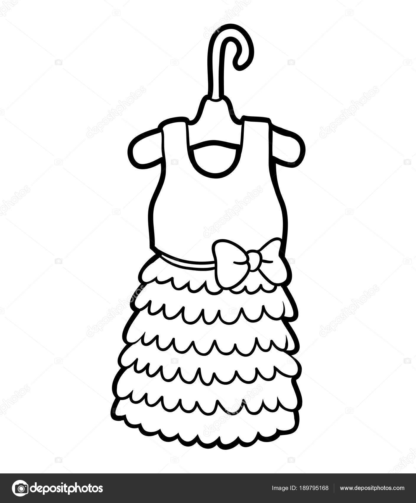塗り絵ドレス ストックベクター Ksenyasavva 189795168