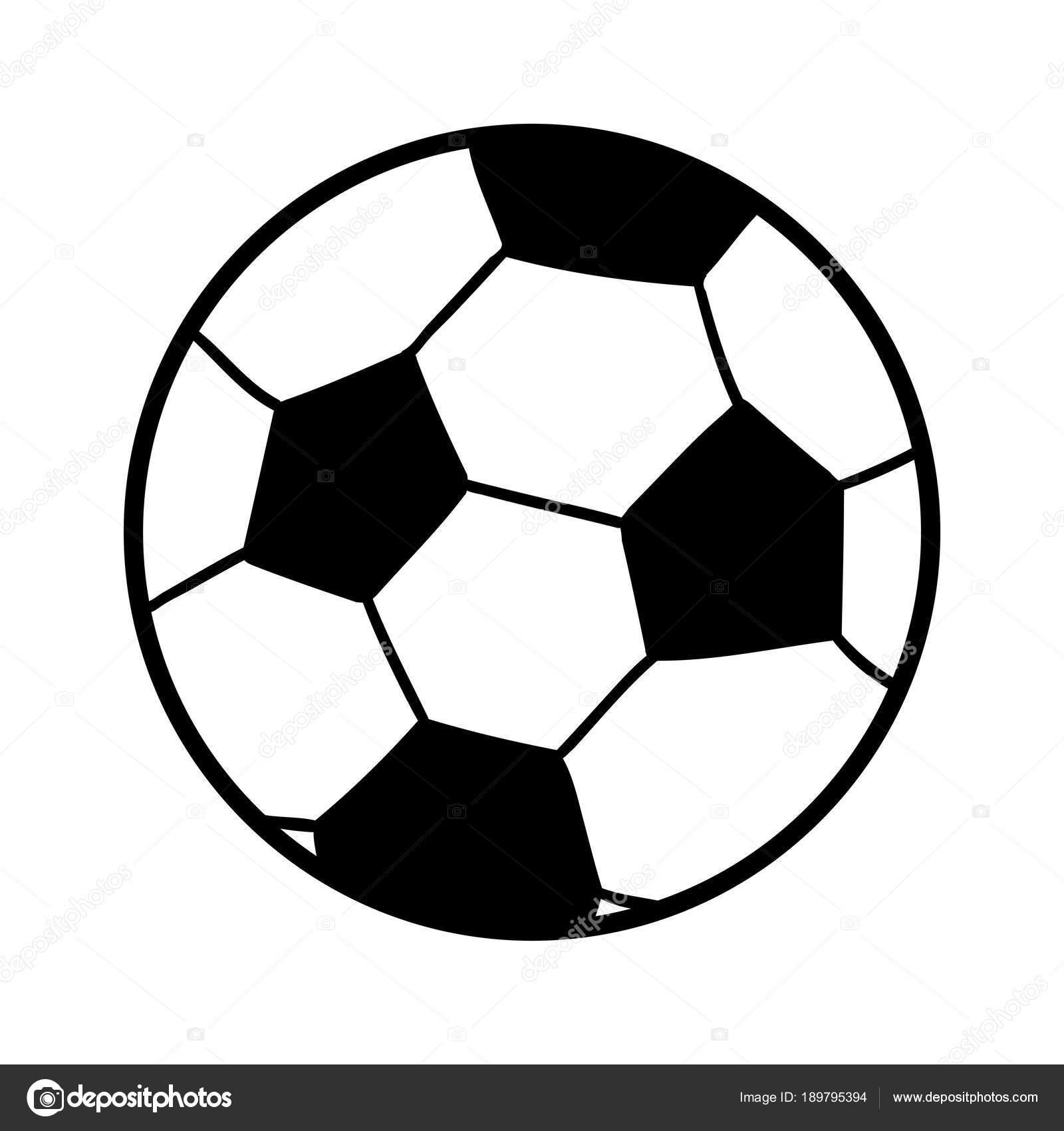 Pelotas Para Colorear De Futbol Libro Para Colorear Bola Vector