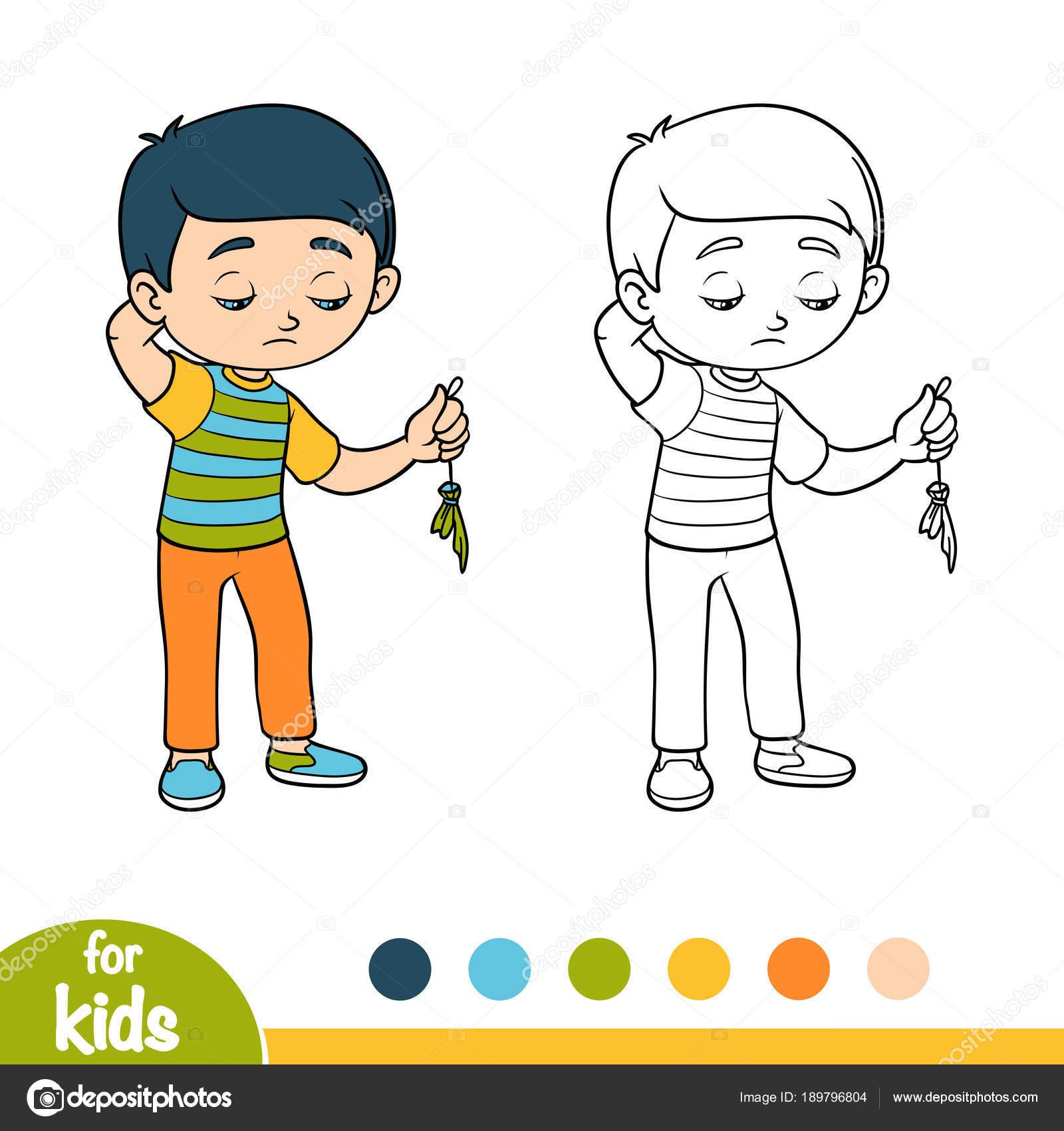 Imágenes Niño Triste Para Colorear Libro Para Colorear Niño