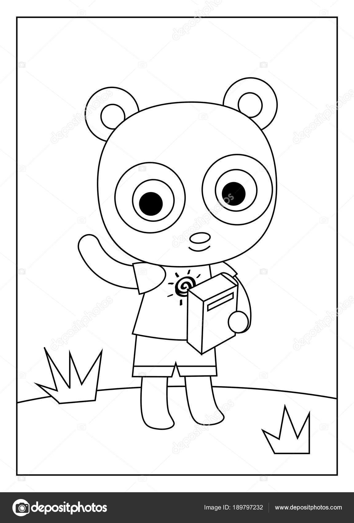 Boyama Kitabı Panda Stok Vektör Ksenyasavva 189797232