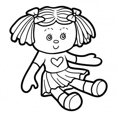 Coloring book for children, Doll