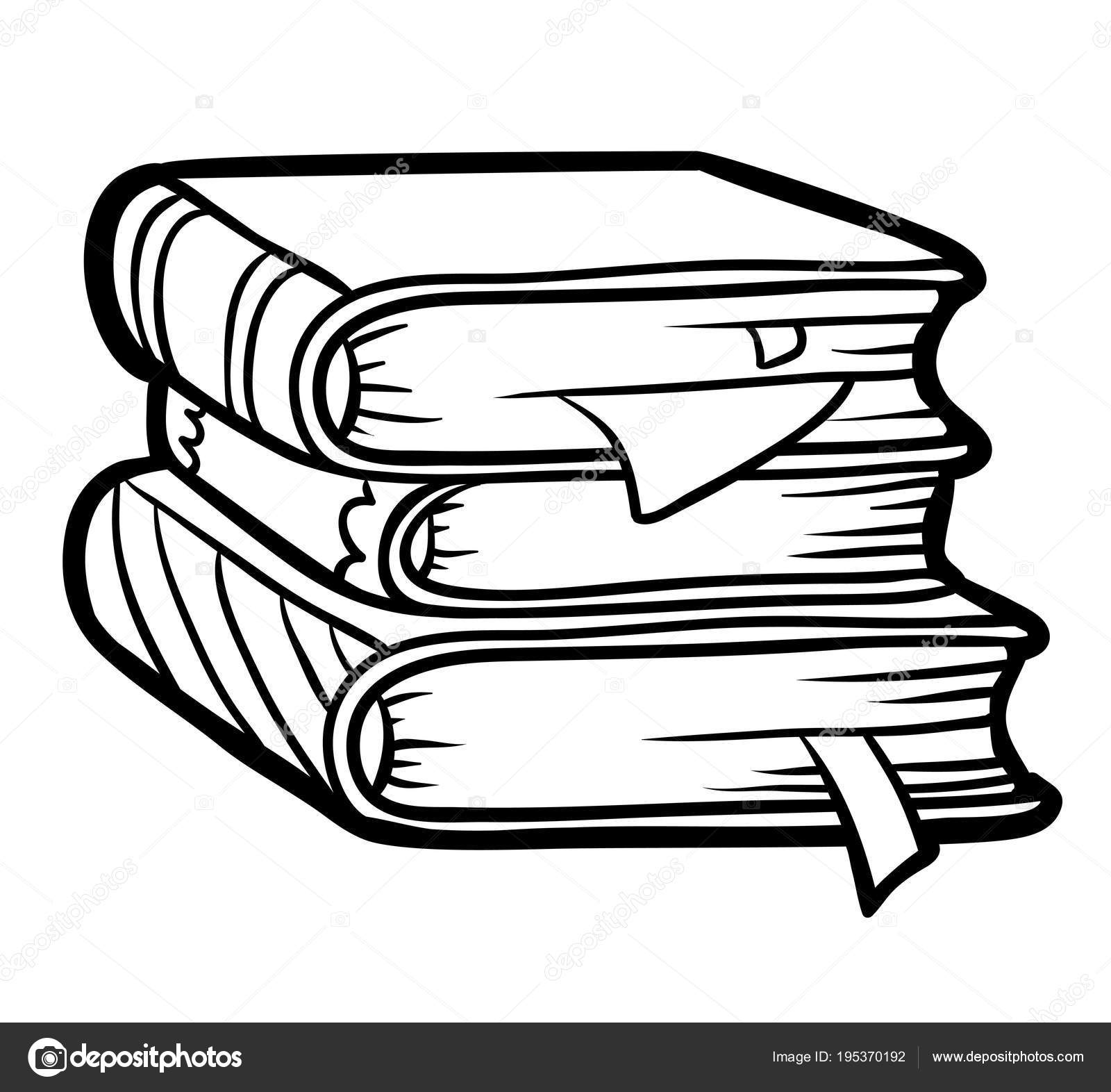 Imágenes: pila de libros para colorear | Libro de colorear, pila