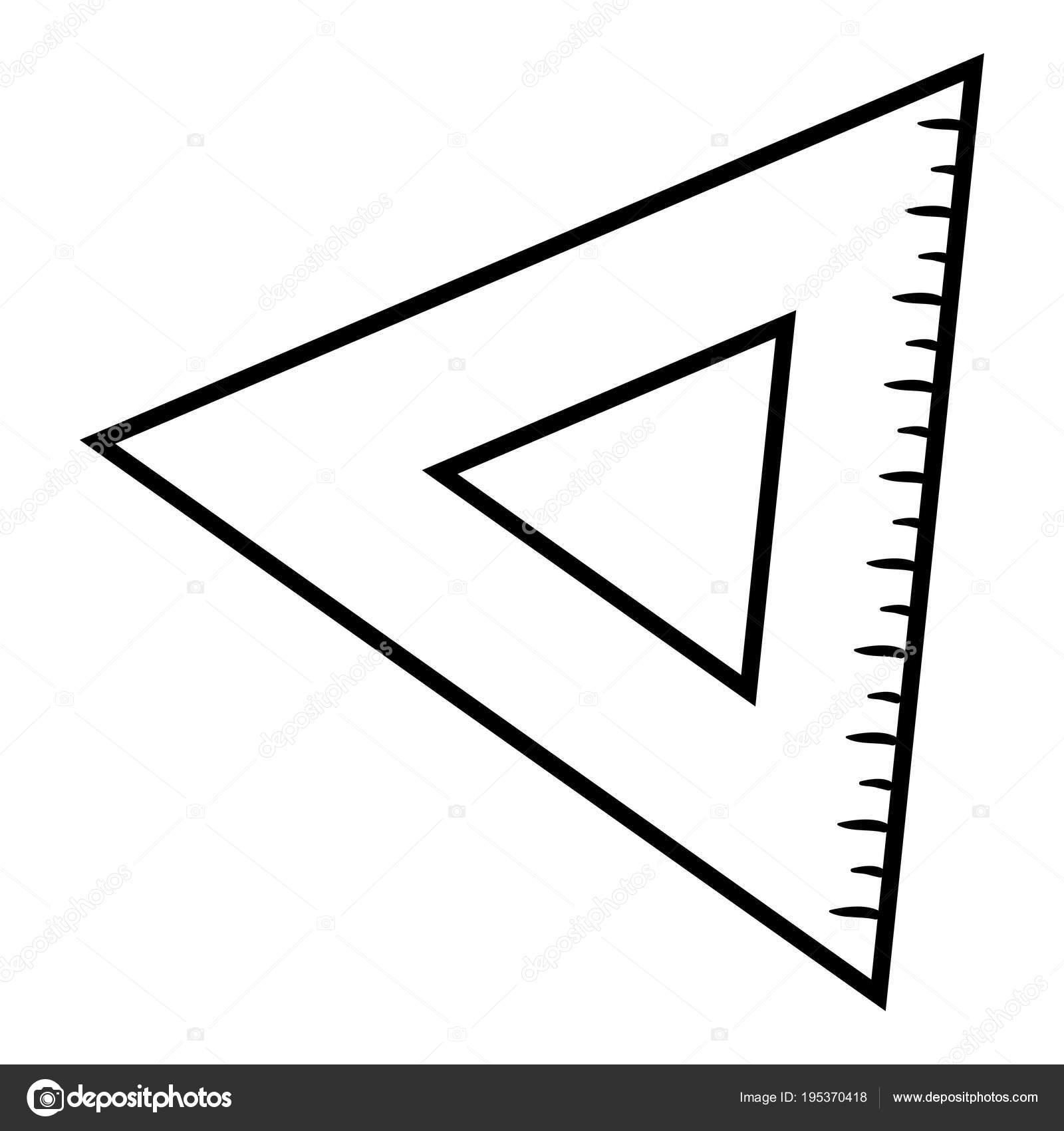 Libro de colorear, regla del triángulo — Vector de stock ...