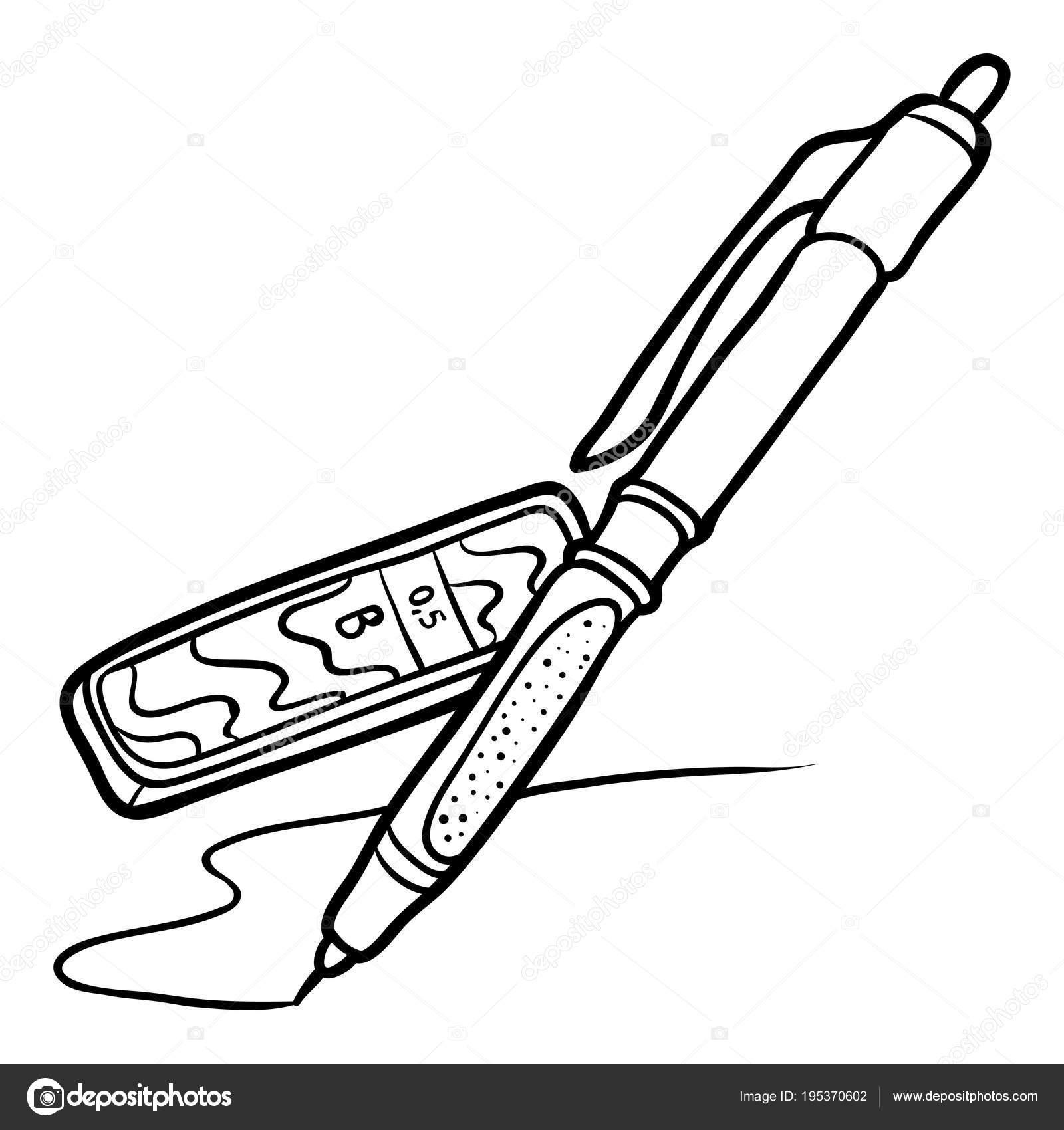 Boyama Kitabı Mekanik Kurşun Kalem Ile Yol Açar Stok Vektör