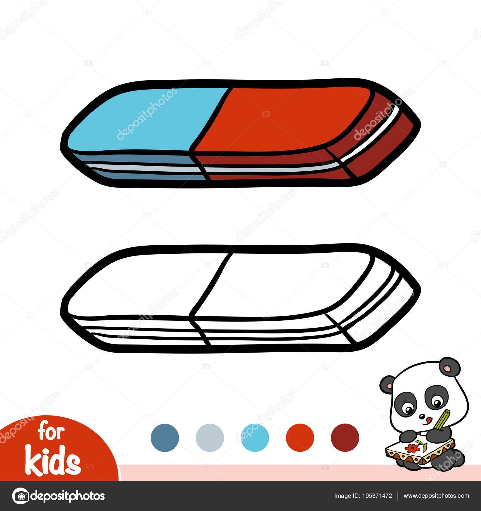 Картинка ластик для детей раскраска