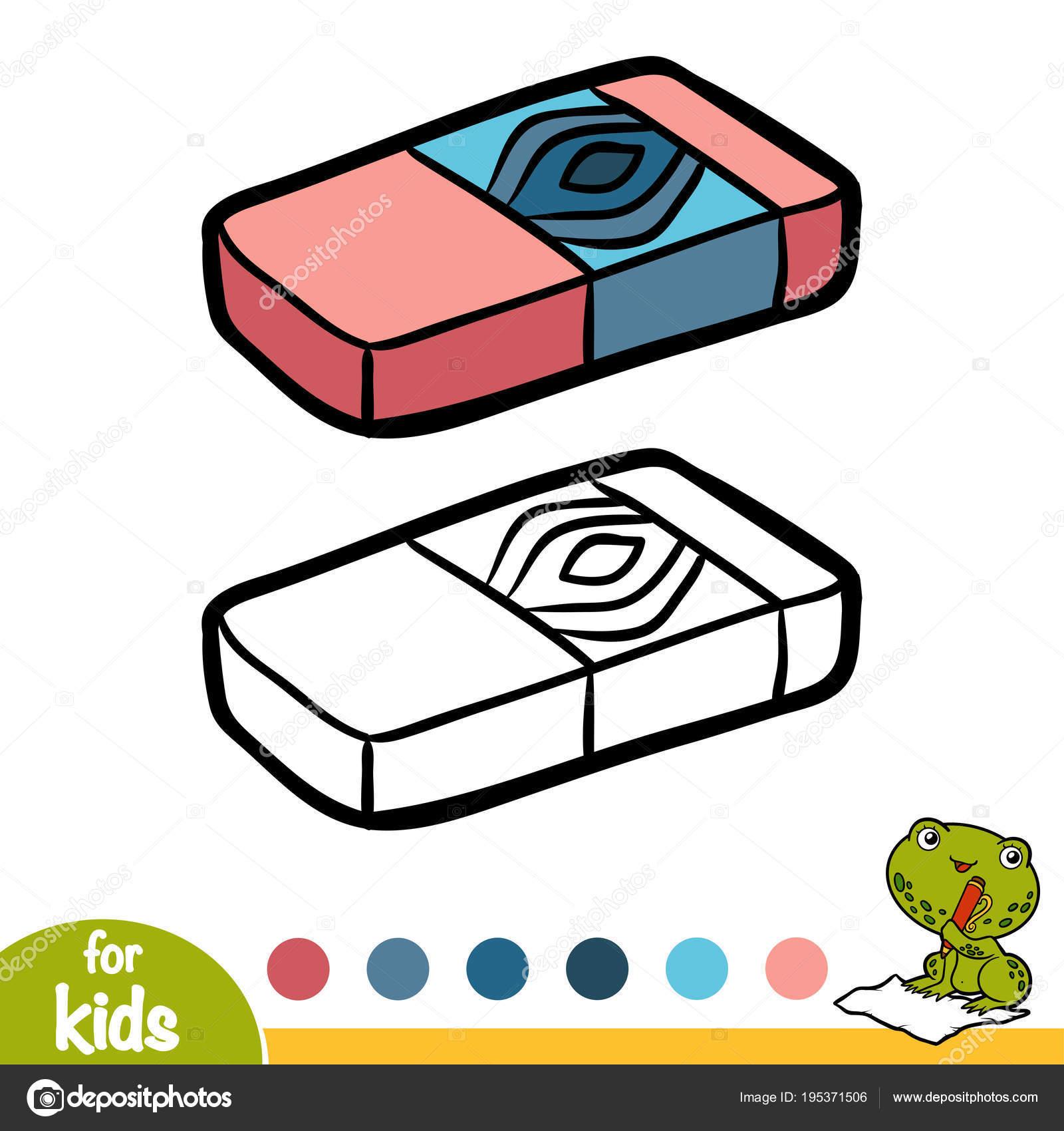 Coloring Book Eraser Stock Vector C Ksenya Savva 195371506