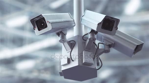 Bezpečnostní kamery skenování na ulici v rozlišení 4k