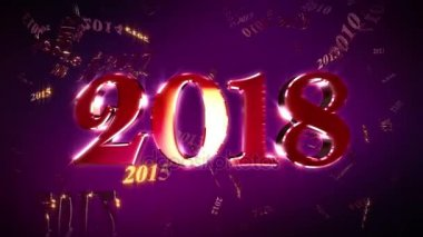 New Year 2018 Animation Loopable Background