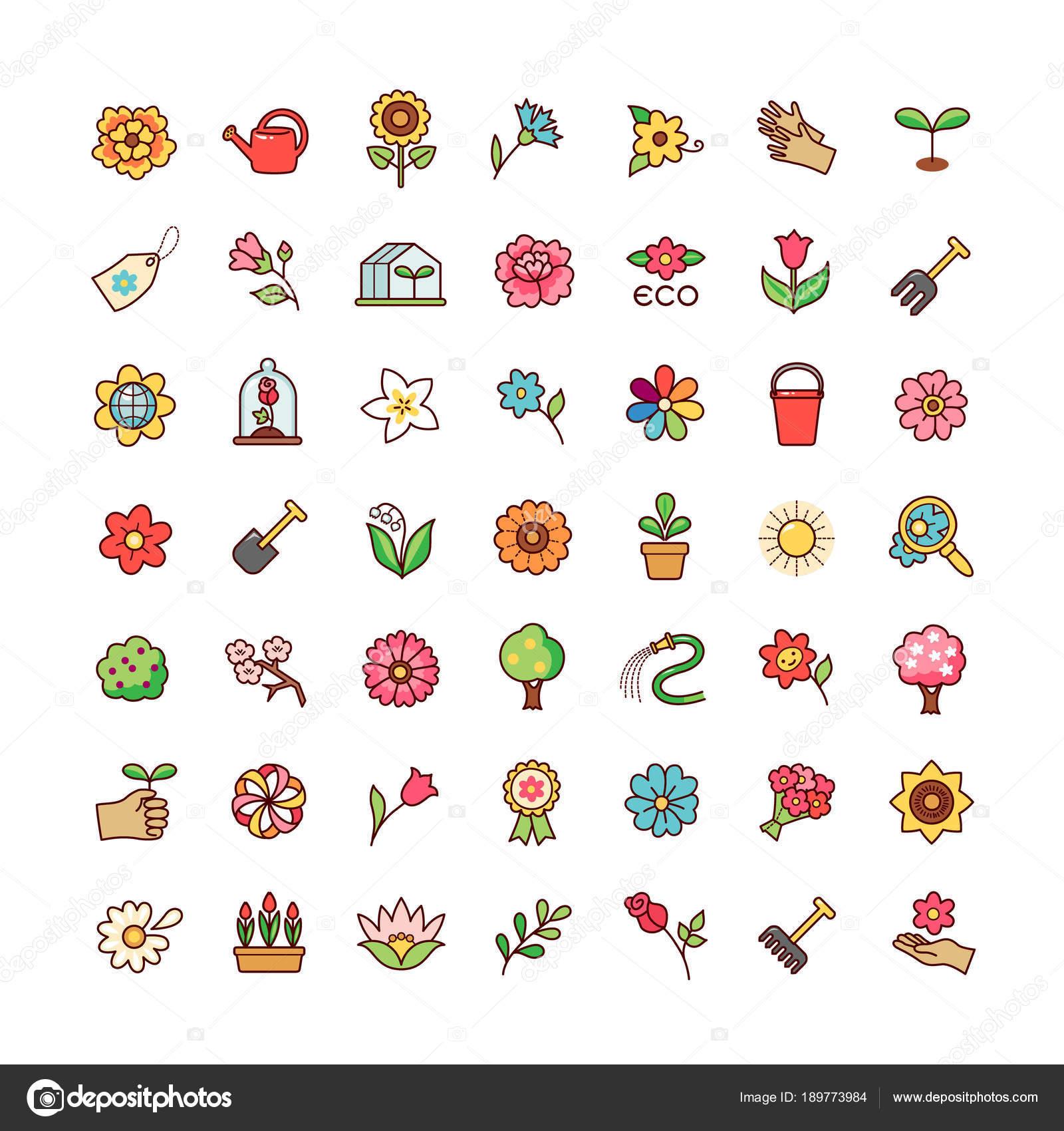 Colección Símbolos Patrios Las Flores Para Decoración Diseño