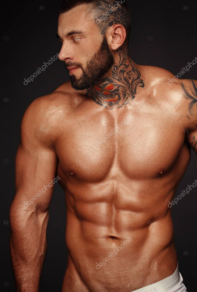 Young Sports Guy Naked Torso Stock Photo (Edit Now) 57814261