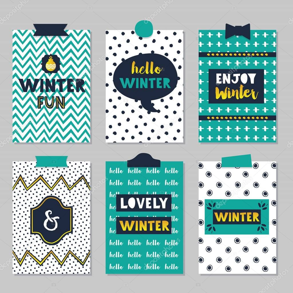 Quotes Journal Cute Assorted Winter Quotes Journal Cards Set On Beautiful And