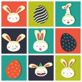 Fotografie Easter bunnies and easter egg