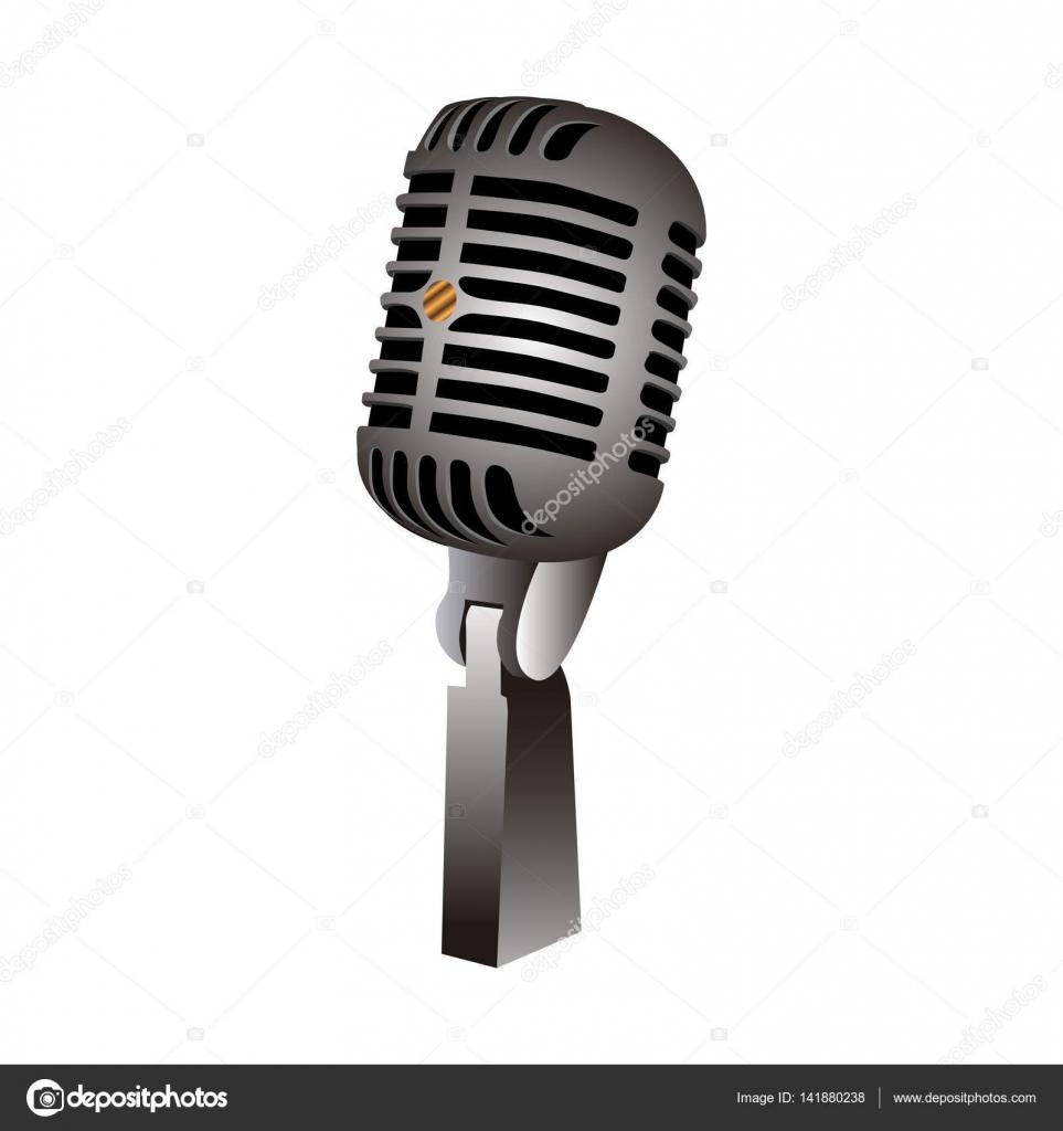 Imagenes Microfono Microfono Retro Aislado Vector De Stock