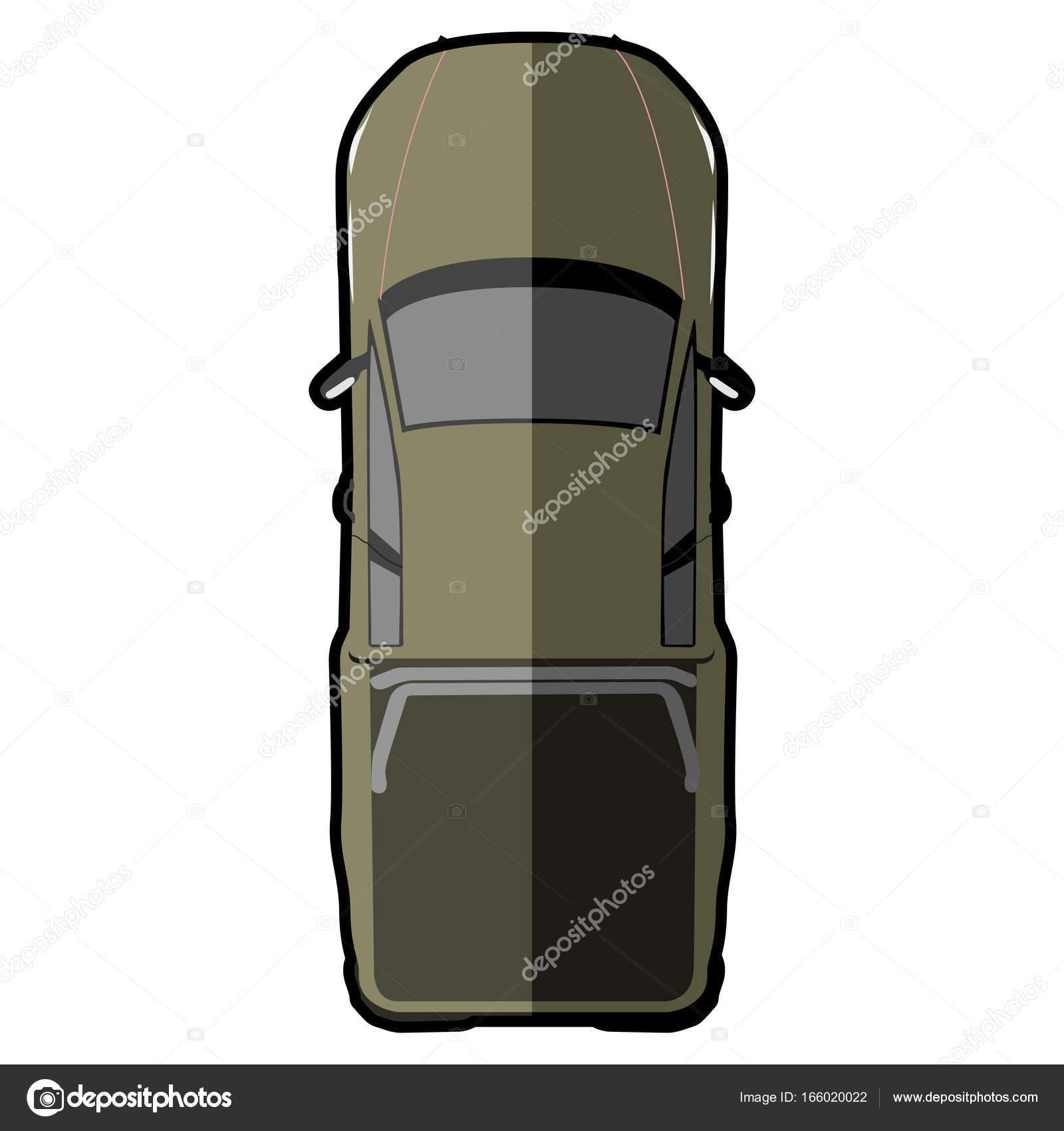 車の上から見る ストックベクター Laudiseno 166020022