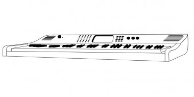 Isolated keyboard outline
