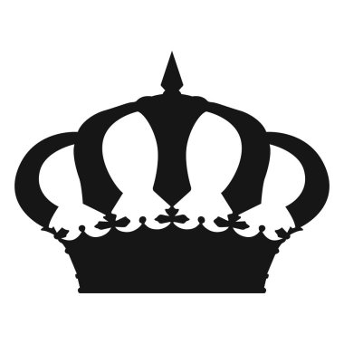 Isolated crown silhouette