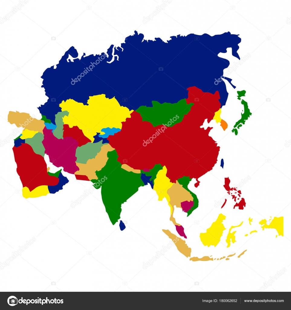 Cartina Politica Dell Asia Muta.Mappa Politica Dell Asia Vettoriali Stock C Laudiseno