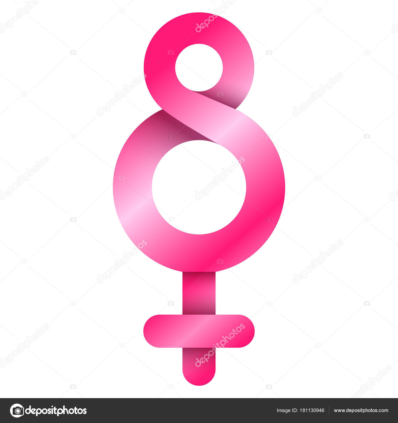 Female Gender Symbol Stock Vector Laudiseno 181130946