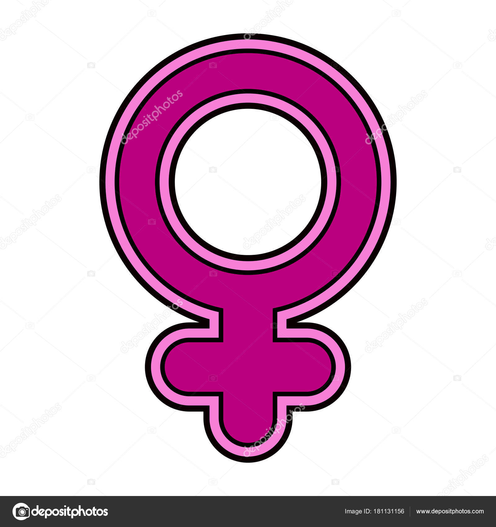 Female Gender Symbol Stock Vector Laudiseno 181131156
