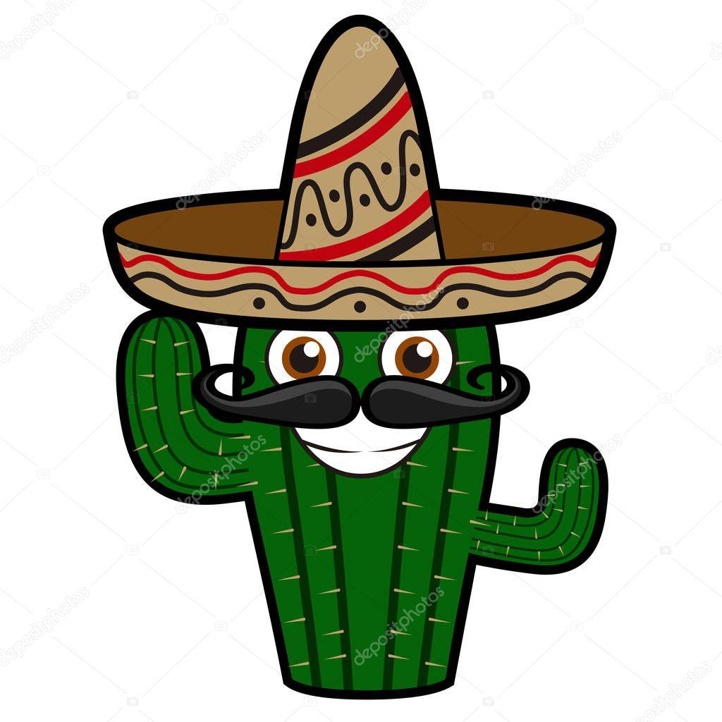 Happy cactus with hat