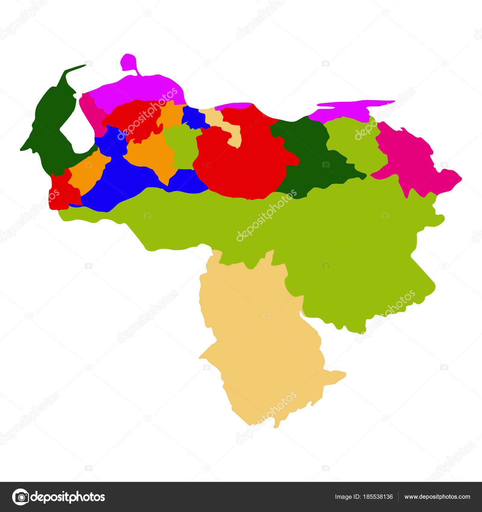 Political map of Venezuela Stock Vector LAUDiseno 185538136