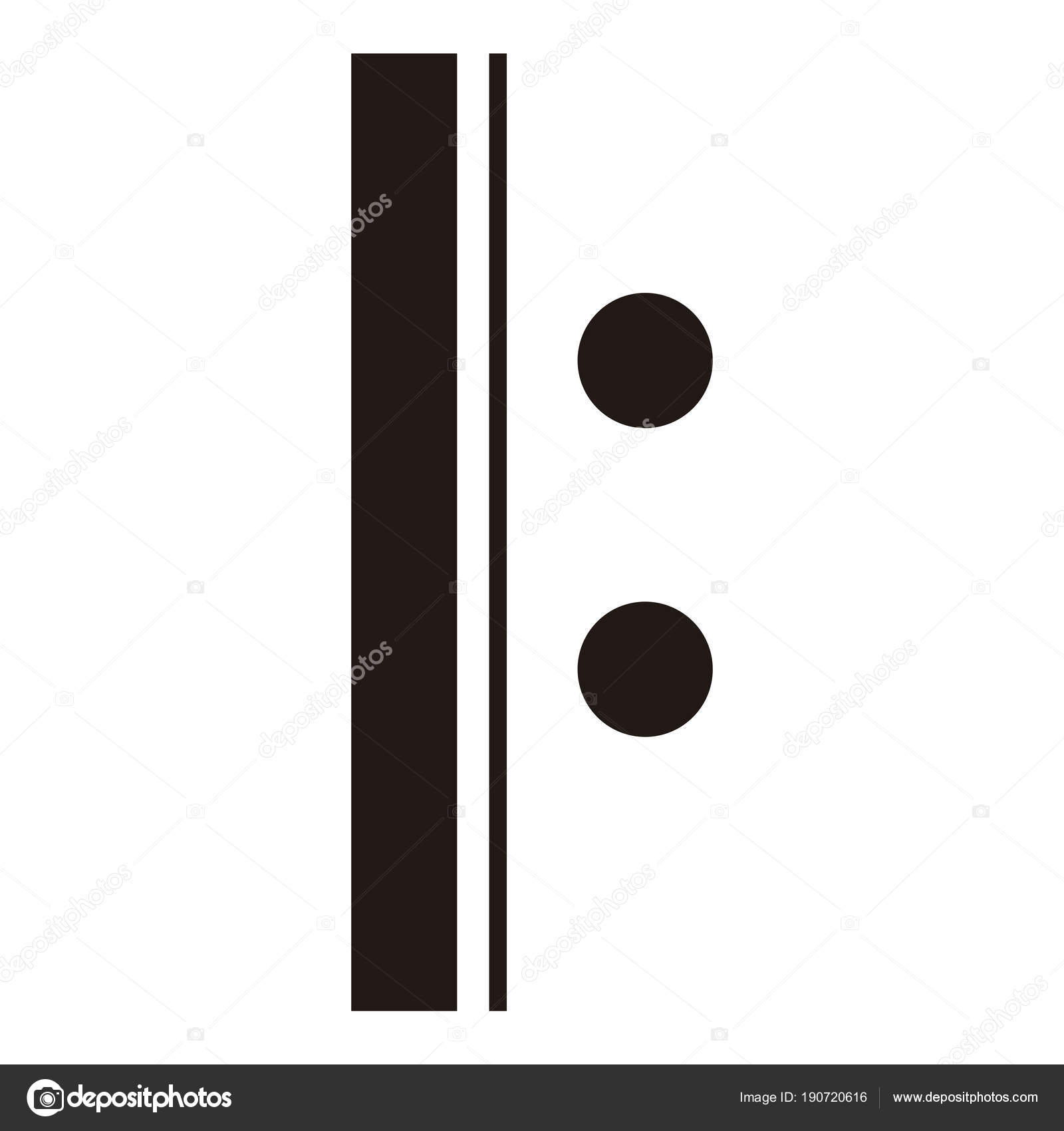 Isolated Repeat Sign Musical Note Stock Vector Laudiseno 190720616