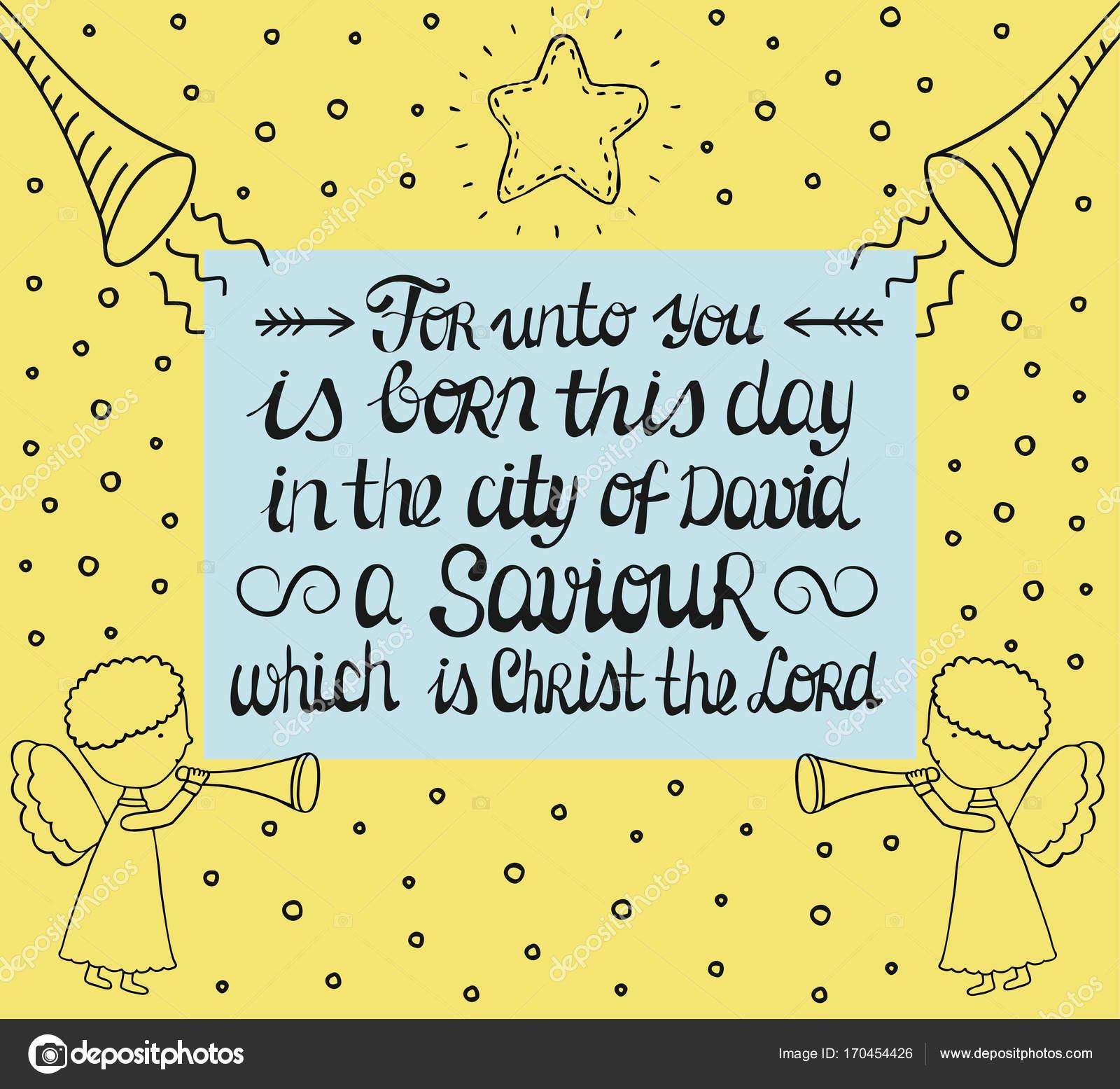 Ręka Napis Dla Wam Urodził Się W Mieście Dawida Zbawiciel Którym