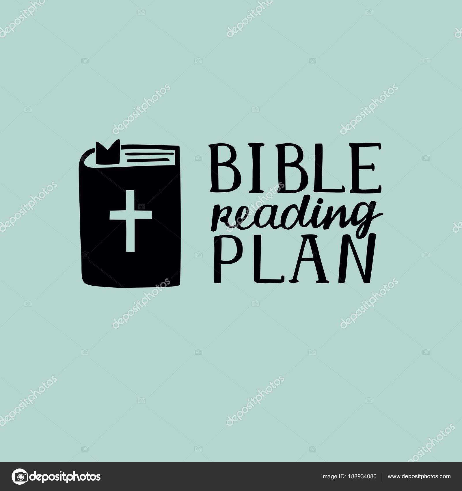 Hand Lettering With Christian Quotes Bible Reading Plan Near Book