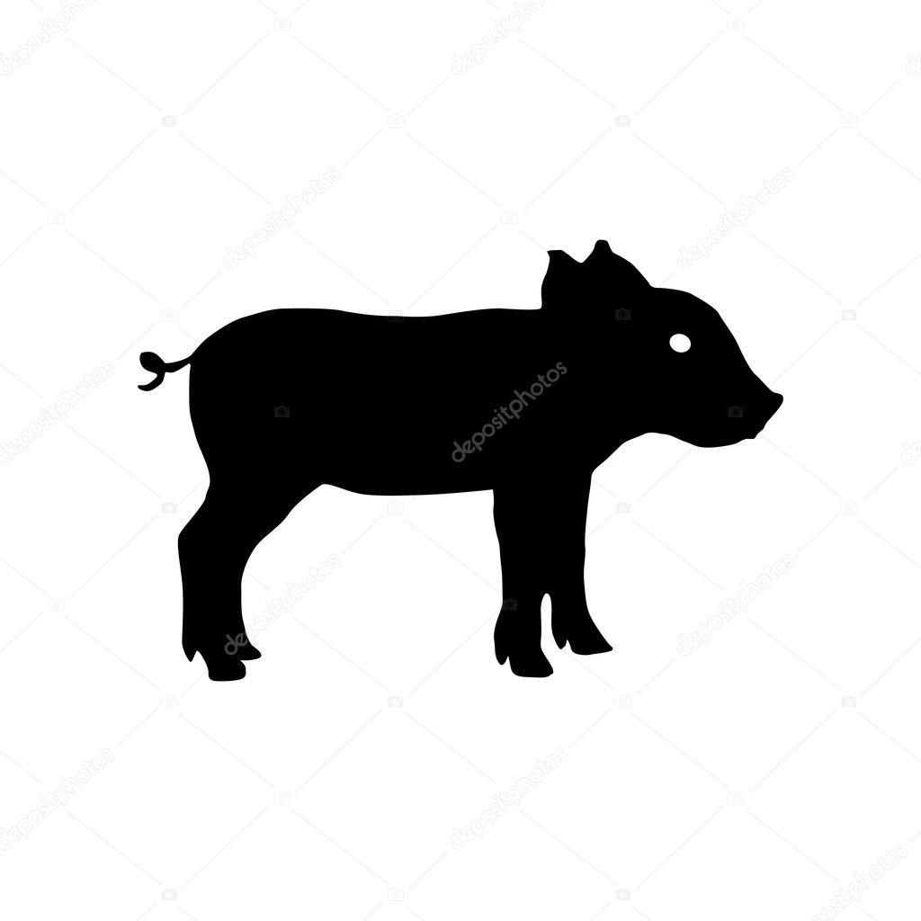 豚のシルエットベクトル図 ストックベクター Mikegreen 125893222