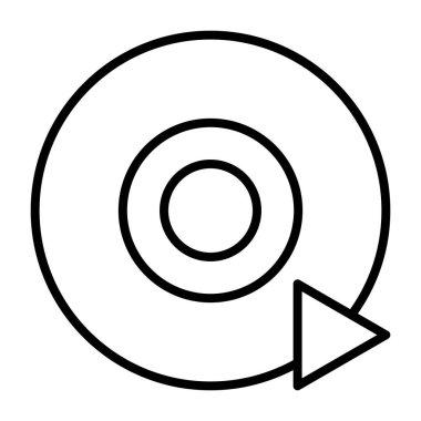 Disc CD DVD line icon. Vector pictogram