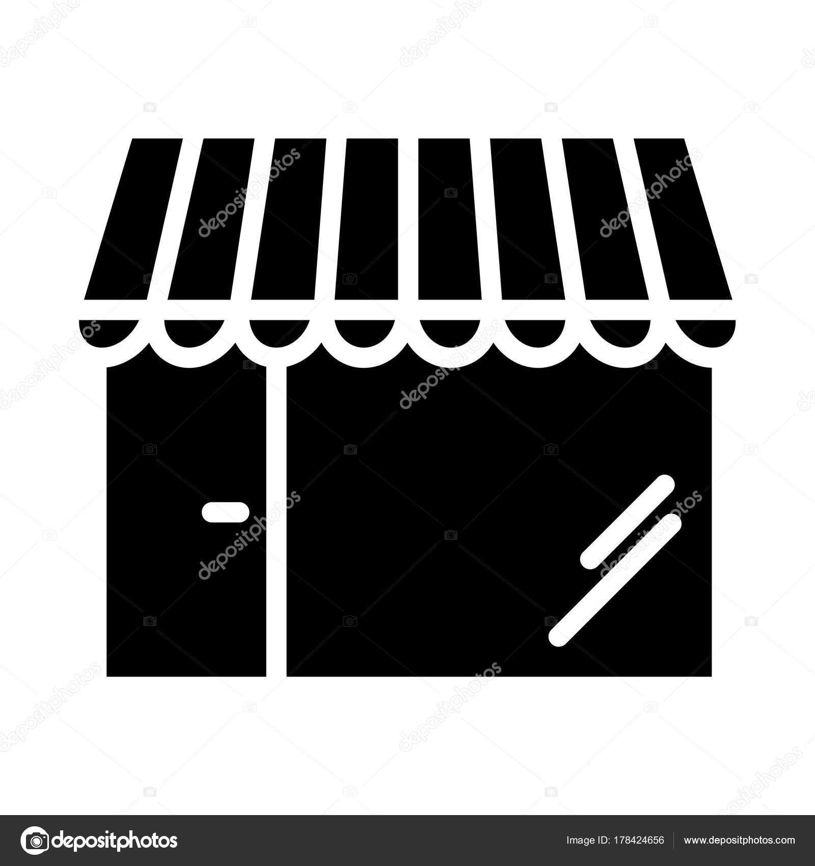 14ca10567a Sklep Pixel Perfect wektor sylwetka ikona 48 x 48. Sklep Simple minimalne  piktogram — Wektor
