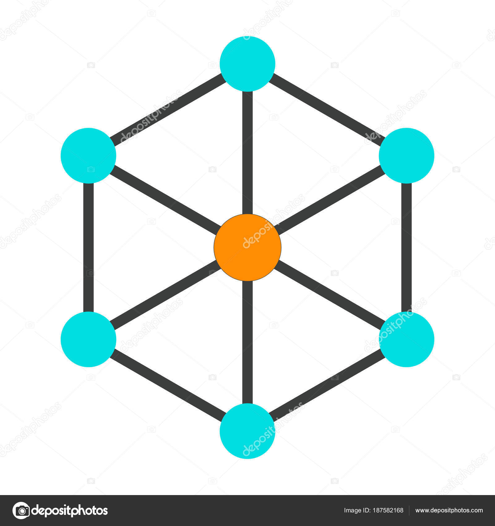 Blockchain Node Icon 96x96 For Web Graphics And Apps Simple Minimal Pictogram Vector By Mike Green