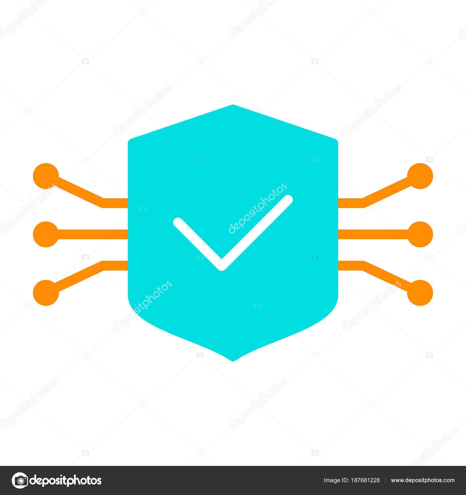 Circuito X : Icono de escudo de circuito tecnología. pictograma de vector mínimo