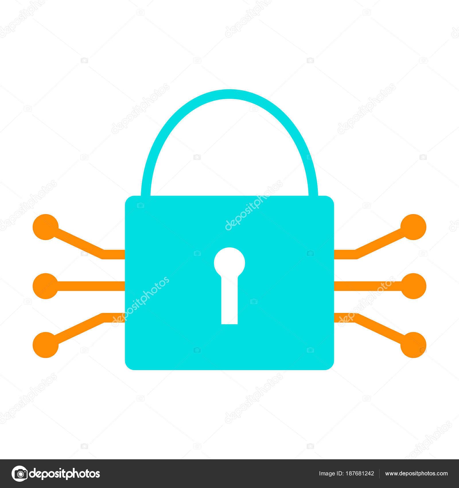 Circuito X : Icono de bloqueo de circuito tecnología. pictograma de vector mínimo