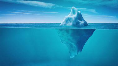 Underwater view of iceberg