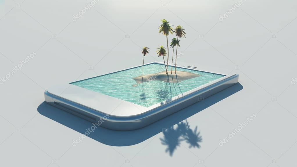 3d tropical image