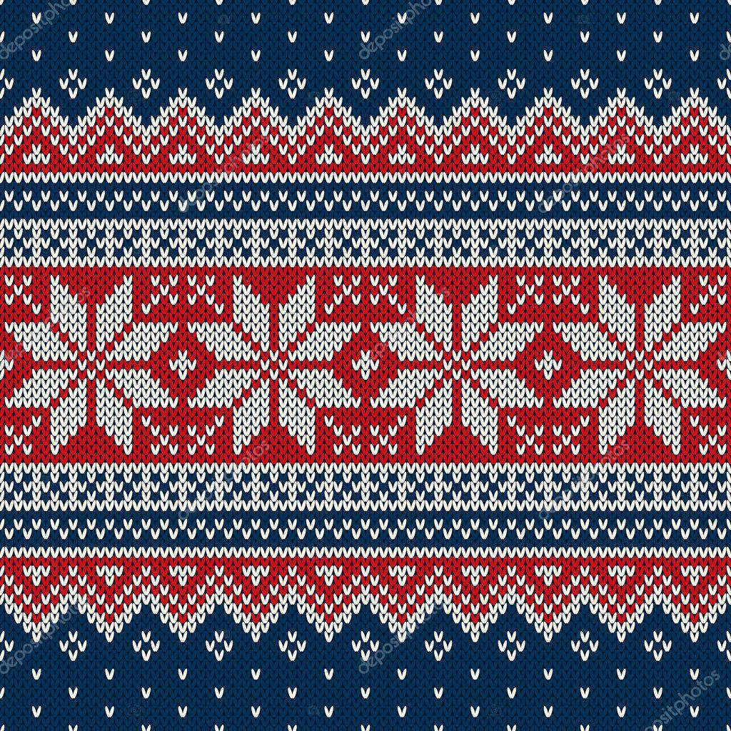 Diseño del suéter de Navidad. Patrón de punto sin costuras — Vector ...