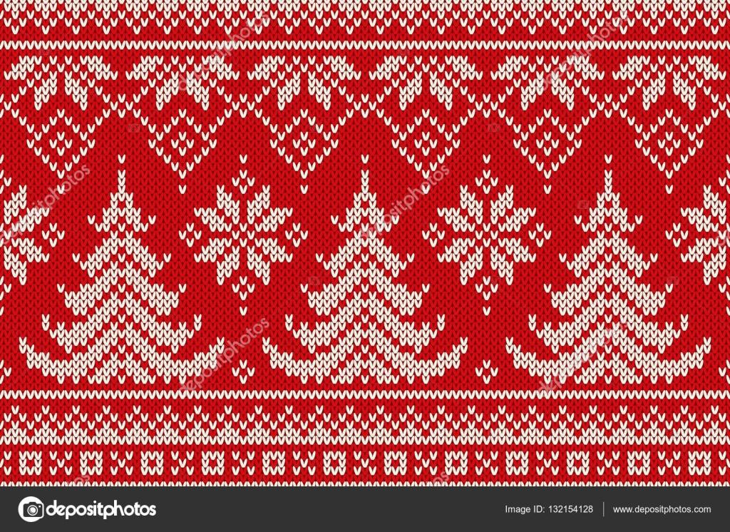 80bc3b99 Sportlovet sömlös stickning mönster med en julgranar. Sticka tröja Design.  Ull som är stickad
