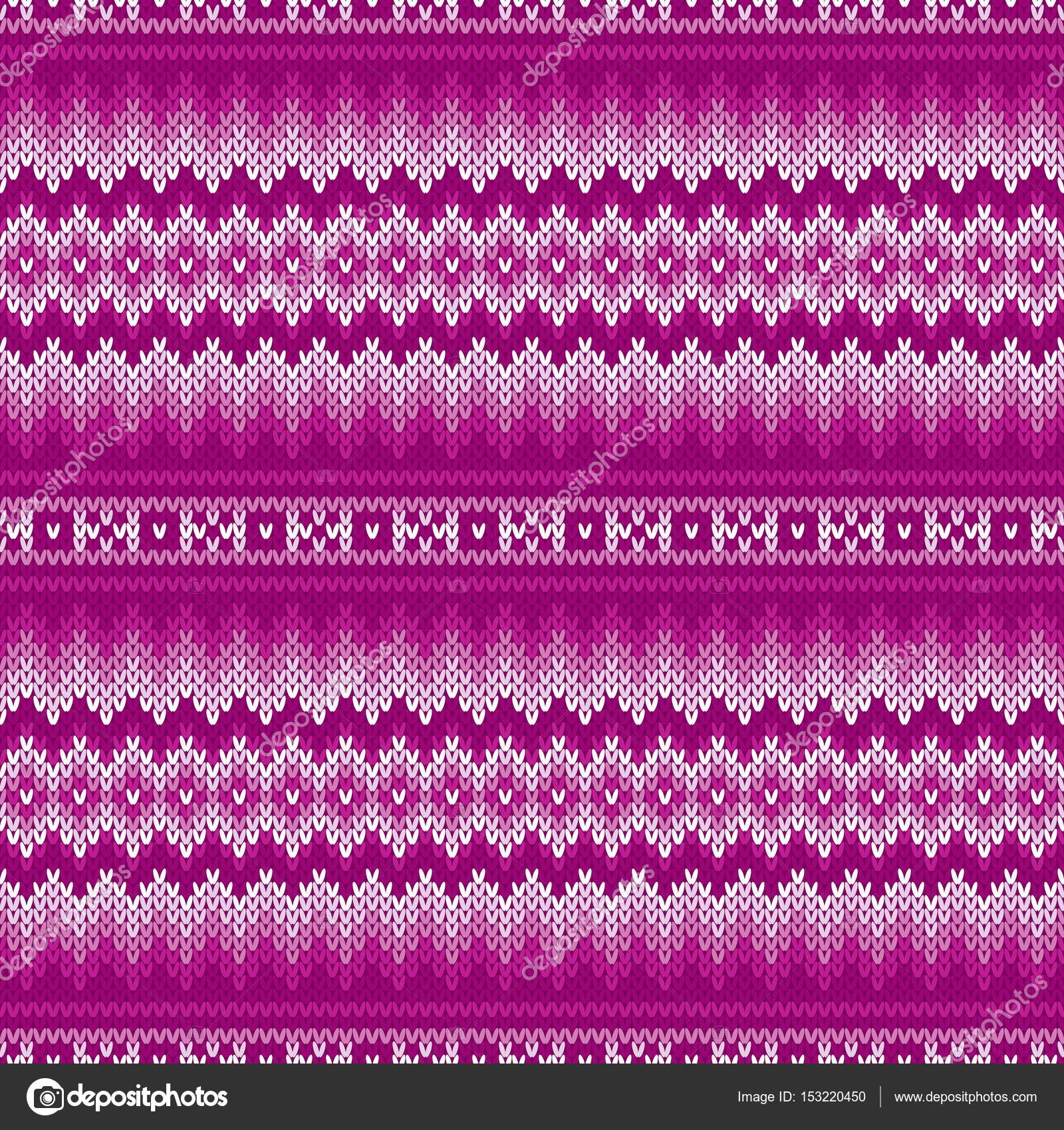 Traditional Fair Isle Knitted Pattern. Vector Seamless Knitting ...