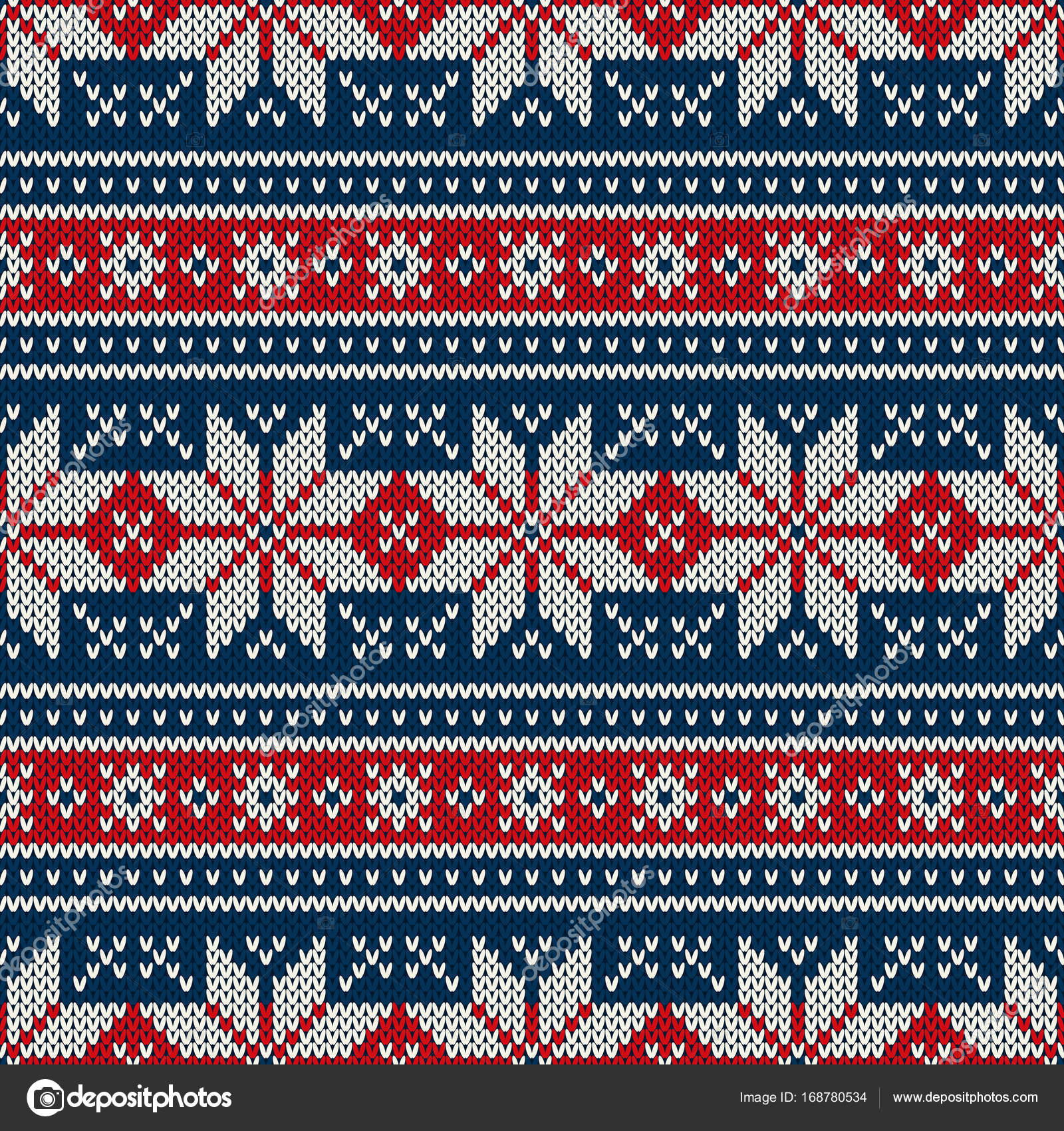 04377c54102119 Winter Holiday Knitted Pattern with Snowflakes. Fair Isle Knitting Sweater  Design. Seamless Christmas and