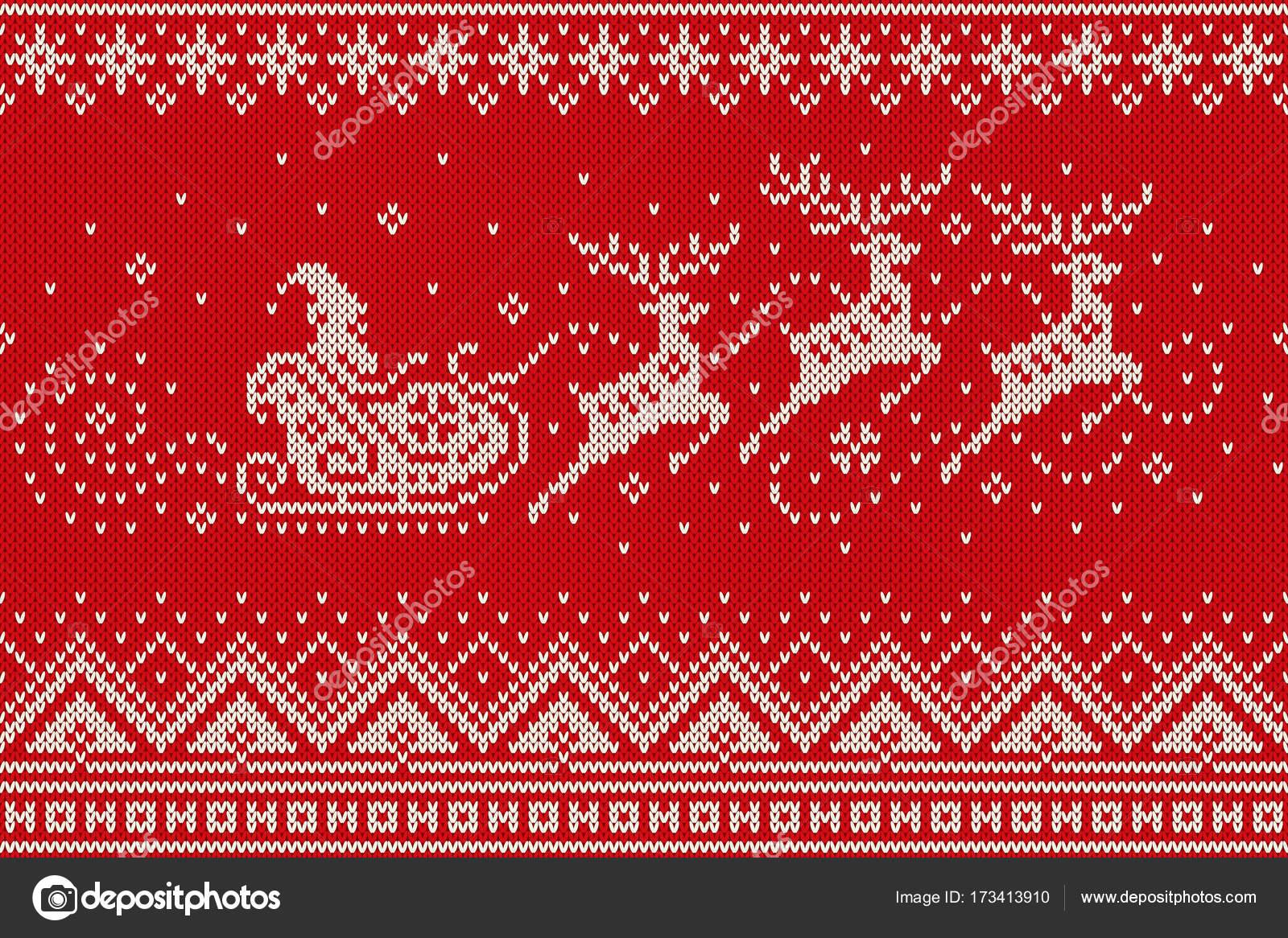 Santa Claus paseos en trineo de renos silueta. Navidad patrones ...